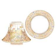 YANKEE CANLDE Gold and Peral árnyékoló és nagy tányér - Gyertya tartozékok