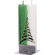 FLATYZ Christmas Tree, Green & White 80 g - Gyertya