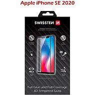 Swissten 3D Full Glue iPhone SE 2020 készülékhez, fekete - Képernyővédő