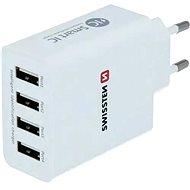 Hálózati adapter Swissten SMART IC Hálózati adapter 4xUSB 5A