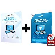 F-Secure SAFE DR + FREEDOME 3 készülékre 1 évre + Data Recovery 1 készülékre 1 évre (elektro - Antivírus szoftver
