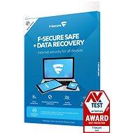 F-Secure SAFE DR 3 készülékhez 1 évre + Data Recovery 1 készülékhez 1 évre (elektronikus licenc) - Antivírus szoftver