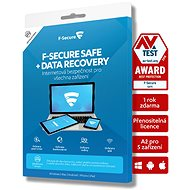 F-Secure SAFE DR 5 készülékhez 2 évre + Data Recovery 1 készülékhez 2 évre (elektronikus licensz) - Antivírus szoftver