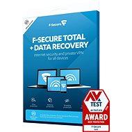 F-Secure TOTAL DR 1 készülékhez 1 évre + Data Recovery 1 készülékhez 1 évre (elektronikus licenc) - Antivírus szoftver