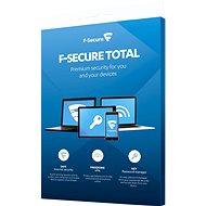F-Secure TOTAL FAMILY DR 5 készülékhez 1 évre + Data Recovery 1 eszközhöz 1 évre  (elektronikus lic) - Antivírus szoftver