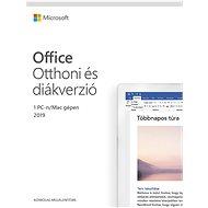 Irodai szoftver Microsoft Office 2019 otthonokra és diákoknak (elektronikus licenc)