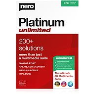 Nero Platinum Unlimited 7-in-1 CZ (elektronikus licenc) - Író szoftver