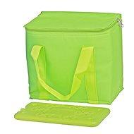 Timelife - összecsukható termoszevel + 350ml hűtőpad - zöld - Thermo táska