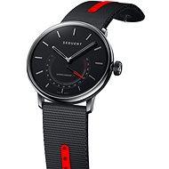 Sequent SuperCharger 2.1 Premium HR onyx fekete, fekete / piros szíjjal - Okosóra