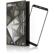 Tempered Glass Protector Samsung Galaxy A6 készülékhez keretes fekete - Képernyővédő