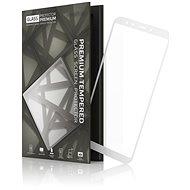 Tempered Glass Protector Xiaomi Mi A2 készülékhez keretes fehér - Képernyővédő