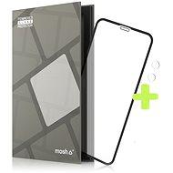 Képernyővédő Tempered Glass Protector védőkeret - iPhone Xr / 11, fekete +kamera üveg