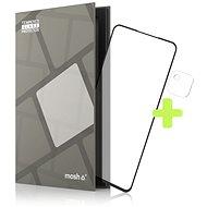 Tempered Glass Protector védőkeret - Google Pixel 4a 4G, fekete + kamera üveg - Képernyővédő