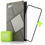 Tempered Glass Protection az iPhone 11 telefonhoz - 3D Case Friendly, fekete + üveg-kamera - Képernyővédő
