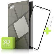 Tempered Glass Protector iPhone 11 Pro Max-hoz - 3D Case Friendly, fekete + kameravédő üveg - Képernyővédő