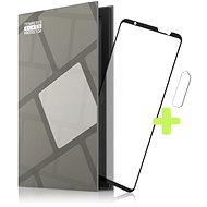 Tempered Glass Protector Asus ROG Phone 5-höz, keretes, fekete + üveg a kamerára - Képernyővédő