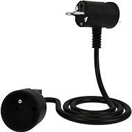 Tinen hosszabbító kábel innovatív csatlakozóval, 2 m, fekete - Hosszabbító kábel