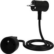 Tinen hosszabbító kábel innovatív csatlakozóval 10 m, fekete - Hosszabbító kábel