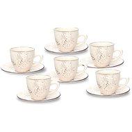 Tognana Louise Stay kávés, 6 darab, csészealjakkal