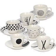 Tognana Kávéscsésze készlet csészealjakkal 80ml GRAPHIC 6db - Csésze + csészealj