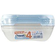 Tontarelli Élelmiszertartó doboz 4x0,5 L Nuvola világoskék