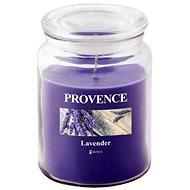 Provence Gyertya üvegben, fedéllel 510g, Levendula - Gyertya