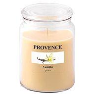 Provence Gyertya üvegben, fedéllel 510g, Vanília - Gyertya