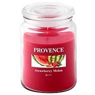 Provence Gyertya üvegben, fedéllel 510g, Eper+dinnye - Gyertya