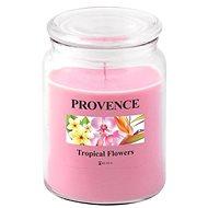 Provence Gyertya üvegben, fedéllel 510g, Trópusi virágok - Gyertya