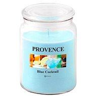 Provence Gyertya üvegben, fedéllel 510g, Blue Cocktail - Gyertya