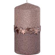 60 x 120 henger alakú, barna színű gyertya csíkkal - Karácsonyi gyertya