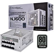 SilverStone Nightjar Fanless Titanum NJ600 600W - PC tápegység