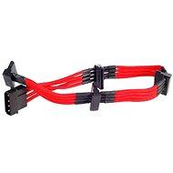 SilverStone PP07-BTSR Molex-SATA Átalakító piros kábellel - Átalakító