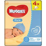 HUGGIES Pure Quatro Pack (4x56 db) - Baba törlőkendő