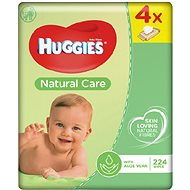 HUGGIES Natural Care Quatro Pack (4x56 db) - Baba törlőkendő