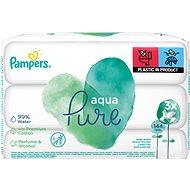 PAMPERS Aqua Pure nedves törlőkendők 3 × 48 db - Baba törlőkendő
