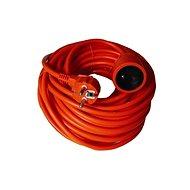Solight hosszabbító kábel, 1 csatlakozóaljzat, narancsszín, 30m - Hosszabbító
