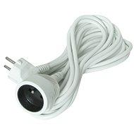 Solight hosszabbító kábel, 1 csatlakozóaljzat, fehér, 10m - Hosszabbító kábel