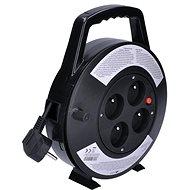 Solight hosszabbító kábel dobbal, 4 aljzat, fekete, 10 m - Hosszabbító kábelek