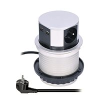 Hosszabbító kábel Solight PP100USB - Prodlužovací kabel