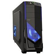 EVOLVEO R04 fekete/kék - Számítógép ház