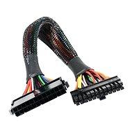 AKASA teljesítménycsökkentő tápvzeték 24tűs plusz 20 + 4 tűs, 30 cm hosszú - Adapter elosztó