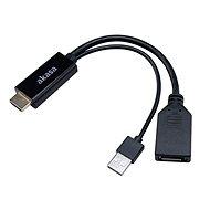 Akasa HDMI - DisplayPort adapter USB táppal / AK-CBHD24-25BK - Átalakító