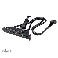 Akasa USB 3.1 Gen2 C típusú PCI kettős USB 3.1 A típusú / AK-CBUB52-50BK - Takarólemez