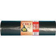 ALUFIX Szemeteszsák, nagyon erős, 180 l, 80 × 120 cm, fekete, 10 db/tekercs - Szemeteszsák
