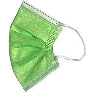 RespiLAB Eldobható szájmaszk gyerekeknek - zöld (10 db) - Szájmaszk