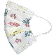 RespiLAB Eldobható szájmaszk gyerekeknek - autók (10 db) - Szájmaszk
