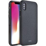 Uniq Lithos Hybrid iPhone Xs Max Charcoal - Mobiltelefon hátlap