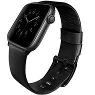 Uniq Mondain szíj Apple Watch 44mm okosórához, éjfekete