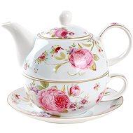 UTC Porcelán teáskanna csészével,  SWEET ROSES - Egyszemélyes teáskészlet